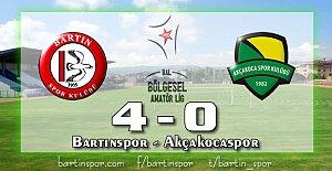 Bartınspor Akçakoca'ya Patladı: 4-0