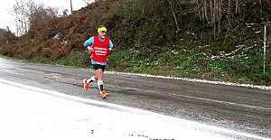 Engelli milli sporcu, Amasra için koştu