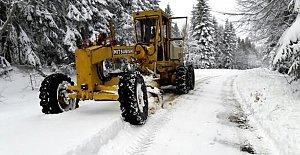 Karda Kapanan Köy Yolları Açılıyor