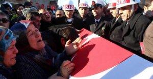 Kayseri şehidinin cenaze töreninde gözyaşları sel oldu