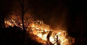 At çiftliği alev alev yandı