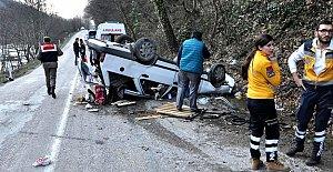 Bartında Feci Kaza: 1 ölü 2 yaralı