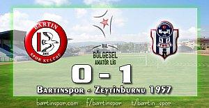 Bartınspor sahasında mağlup:0-1