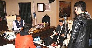 Başkan'dan Öğrencilere Röportaj