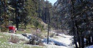 Abant'ta Nisan karı
