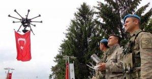 9 Mayıs'a Drone'lu kutlama