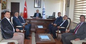 Meclis'ten Rektör Uzun'a Ziyaret