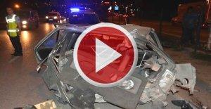 2 kişinin yaralandığı feci kaza, kamerada