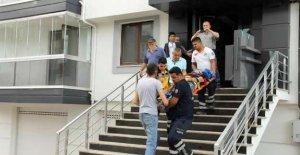 Akıma kapılan işçi yaralandı
