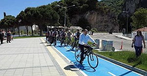 İnkumu'nda bisiklet yolu açıldı