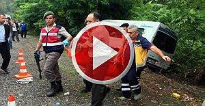 Aynı yolda 3 kaza: 1 ölü, 15 yaralı