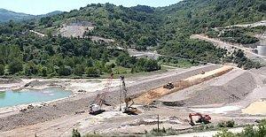 Kozcağız Barajında Çalışmalar Hızlandı