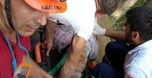 ATV aracı uçuruma yuvarlandı: 1 yaralı