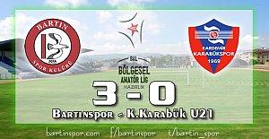 Bartınspor Göz Doldurdu: 3-0