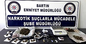 Bartın'da 232 gram SKUNK ele geçirildi