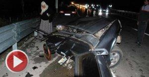 İkiye bölünen aracın sürücüsü öldü