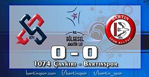 Bartınspor Çankırı'da Tekledi: 0-0