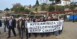 Güzelcehisar Yürüyüş Yolunda Protesto