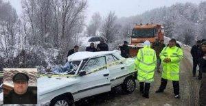 Otomobil, kar küreme aracıyla çarpıştı: 1 ölü, 2 yaralı