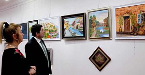 Bartınlı Ressam Ankara'da Sergi Açtı