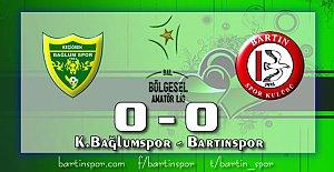 Bartınspor Ankara#039;da Dondu: 0-0