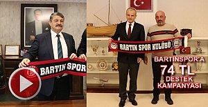 Bartınspor'a 74 TL'lik Destek Kampanyası