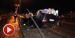 Otomobili takla atan alkollü sürücü yaralandı