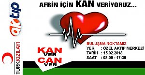 Bartın'da Afrin İçin Kan Bağışı Kampanyası