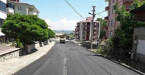 44. Sokak'ta Sıcak Asfalt Çalışması