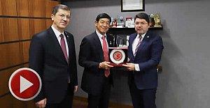 Japon Büyükelçiden Tunç'a Ziyaret