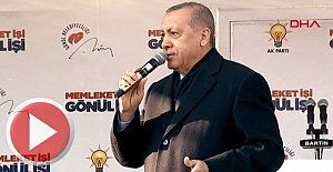 Başkan Erdoğan Bartın'da