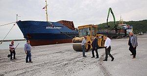 Bartın Limanı Asfaltlanıyor
