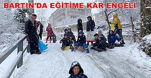 Bartın'da Eğitime Kar Engeli