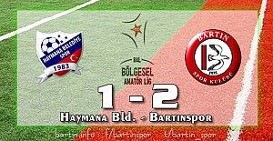 Bartınspor 2'de 2 yaptı: 1-2