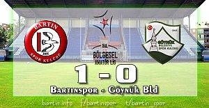 Bartınspor 3'te 3 yaptı: 1-0
