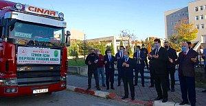 İzmirli Depremzedelere Yardım TIR'ı Yola Çıktı