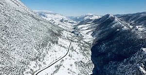 Milli Parkta Kar Güzelliği