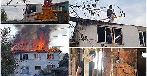 Köylüler Evi Yanan Komşuları İçin Seferber Oldu
