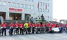 Bisikletliler Çanakkale Yolunda