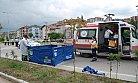 Minibüsün  çartığı bisikletli işçi öldü