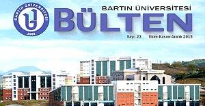 Bartın Üniversitesi Bülteni'nin 23.Sayısı çıktı