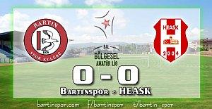 Bartınspor Fırsat Tepti: 0-0
