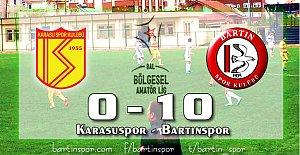 Lider Bartınspor Karasu'yu Topa Tuttu: 10-0