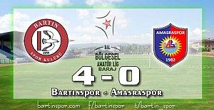 Bartınspor 4-0 Amasraspor