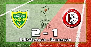 Bartınspor Ankara'dan Puansız Dönüyor: 2-1