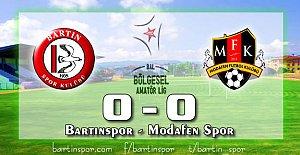 Bartınspor'da Kan Kaybı Devam Ediyor: 0-0
