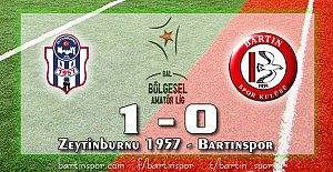 Bu Ceza Bartınspor'a: 1-0