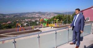 Karaköy'de Park Çalışmaları Devam Ediyor
