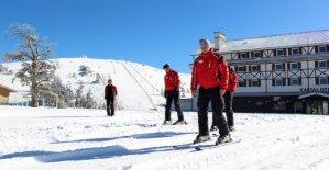 Kartalkaya'da kayak sezon erken açılıyor