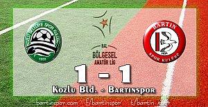Bartınspor Fırsatı Kaçırdı: 1-1